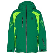 Spyder Vail Boys Ski Jacket, Jungle-Bryte Green-Black, medium