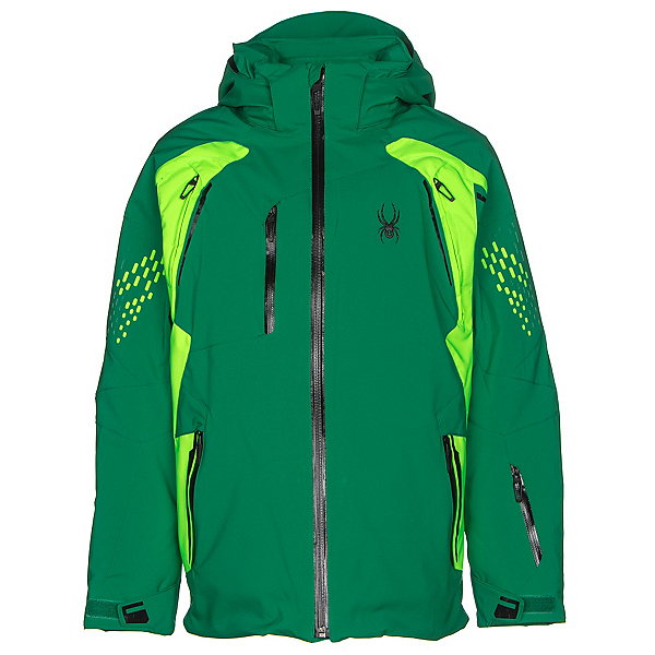 Spyder Vail Boys Ski Jacket (Previous Season), Jungle-Bryte Green-Black, 600