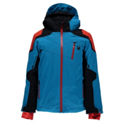 Spyder Speed Boys Ski Jacket, Electric Blue-Black-Rage, medium