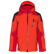 Spyder Speed Boys Ski Jacket, Rage-Red-Black, medium