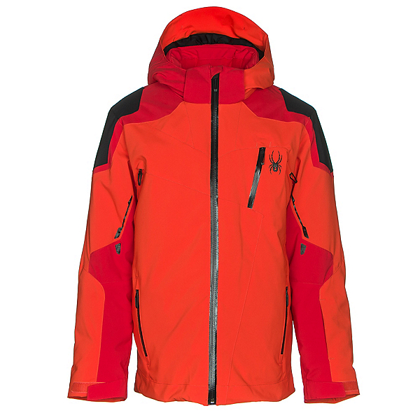 Spyder Speed Boys Ski Jacket, Rage-Red-Black, 600