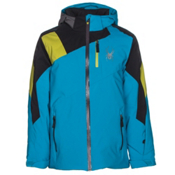 Spyder Avenger Boys Ski Jacket, Electric Blue-Black-Sulfur, medium