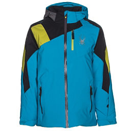 Spyder Avenger Boys Ski Jacket, Electric Blue-Black-Sulfur, 256