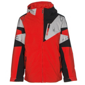 Spyder Leader Boys Ski Jacket, Rage-Black-Cirrus, medium