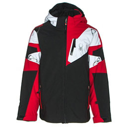 Spyder Leader Boys Ski Jacket (Previous Season), Black-Red-White, 256