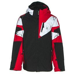 Spyder Leader Boys Ski Jacket (Previous Season), Black-Red-White, 256