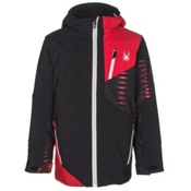 Spyder Enforcer Boys Ski Jacket, Black-Red-Space Armor Formula, medium