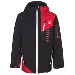 Spyder Enforcer Boys Ski Jacket, Black-Red-Space Armor Formula, 256