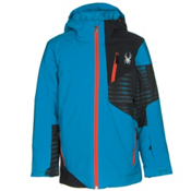 Spyder Enforcer Boys Ski Jacket, Electric Blue-Black-Space Armo, medium