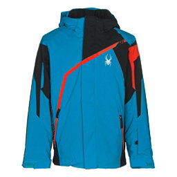 Spyder Challenger Boys Ski Jacket, Electric Blue-Black-Rage, 256