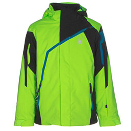 Spyder Challenger Boys Ski Jacket (Previous Season), Bryte Green-Black-Concept Blue, 256