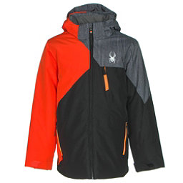 Spyder Ambush Boys Ski Jacket (Previous Season), Black-Rage-Herringbone Polar P, 256