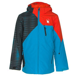 Spyder Ambush Boys Ski Jacket, Electric Blue-Space Armor El B, 256