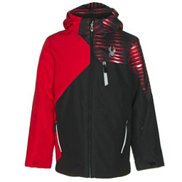 Spyder Ambush Boys Ski Jacket, Black-Red-Space Armor Formula, 256