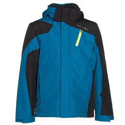 Spyder Guard Boys Ski Jacket, Concept Blue-Black-Bryte Green, 256