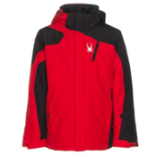 Spyder Guard Boys Ski Jacket, Red-Black-Polar, medium