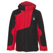 Spyder Flyte Boys Ski Jacket, Black-Red, medium