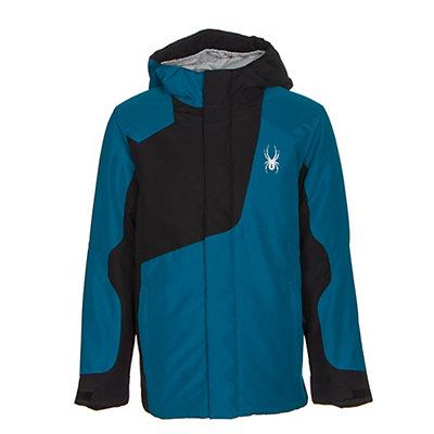 Spyder Flyte Boys Ski Jacket, Concept Blue-Black, viewer