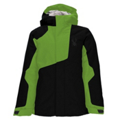 Spyder Flyte Boys Ski Jacket, Black-Bryte Green, medium