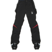 Spyder Force Kids Ski Pants, Black-Red, medium