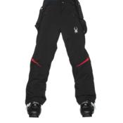 Spyder Force Kids Ski Pants, Black-Red, medium