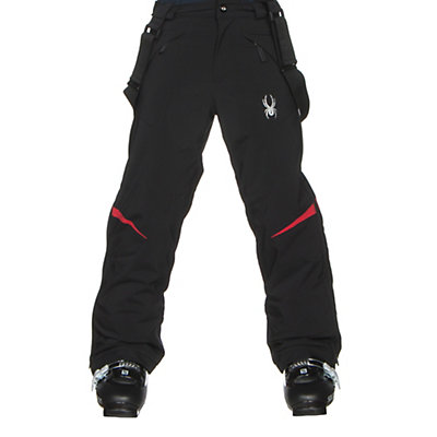 Spyder Force Kids Ski Pants, Black-Red, viewer