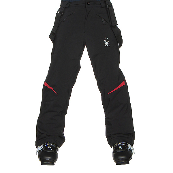 Spyder Force Kids Ski Pants (Previous Season), Black-Red, 600