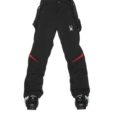 Spyder Force Kids Ski Pants, Black-Red, viewer