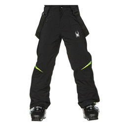 Spyder Force Kids Ski Pants, Black-Bryte Green, 256