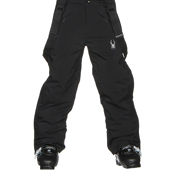 Spyder Force Plus Kids Ski Pants, Black, 600