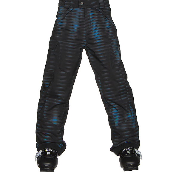Spyder Action Kids Ski Pants, Space Armor Electric Blue Print, 600