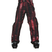 Spyder Action Kids Ski Pants, Space Armor Red Print, medium