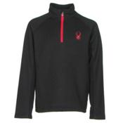 Spyder Outbound Mid Weight Kids Sweater, Black-Red, medium
