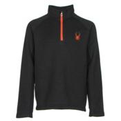 Spyder Outbound Mid Weight Kids Sweater, Black-Rage, medium