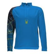 Spyder Linear WEB Dry T-Neck Kids Midlayer, Electric Blue-Polar, medium