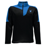 Spyder Charger Therma Stretch Kids Midlayer, Black-Electric Blue, medium