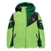 Spyder Mini Leader Toddler Ski Jacket, Bryte Green-Jungle-Black, medium