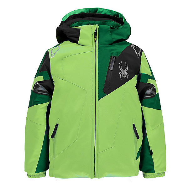 Spyder Mini Leader Toddler Ski Jacket, Bryte Green-Jungle-Black, 600