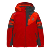 Spyder Mini Leader Toddler Ski Jacket, Rage-Polar-Bryte Orange, medium