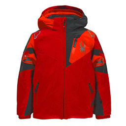 Spyder Mini Leader Toddler Ski Jacket, Rage-Polar-Bryte Orange, 256