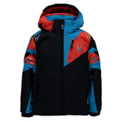 Spyder Mini Leader Toddler Ski Jacket, Black-Electric Blue-Rage, medium