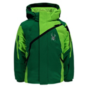 Spyder Mini Challenger Toddler Ski Jacket, Jungle-Bryte Green-Black, medium
