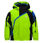 Spyder Mini Challenger Toddler Ski Jacket, Bryte Green-Black-Concept Blue, medium