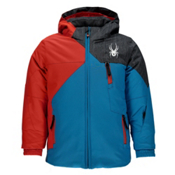Spyder Mini Ambush Toddler Ski Jacket, Electric Blue-Rage-Herringbone, medium