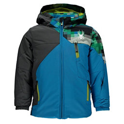 Spyder Mini Ambush Toddler Ski Jacket, Electric Blue-Polar-Pixel Electric Blue, 256