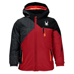 Spyder Mini Ambush Toddler Ski Jacket, Red-Herringbone Polar Print-Black, 256
