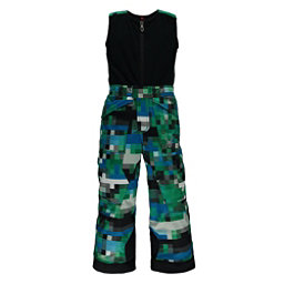 Spyder Mini Expedition Toddler Boys Ski Pants, Pixel Electric Blue Print, 256