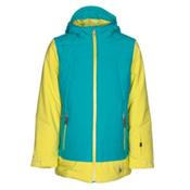 Spyder Moxie Girls Ski Jacket, Acid-Bluebird-Acid, medium