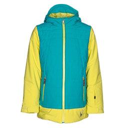 Spyder Moxie Girls Ski Jacket, Acid-Bluebird-Acid, 256