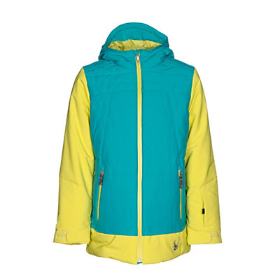 Spyder Moxie Girls Ski Jacket, Acid-Bluebird-Acid, viewer
